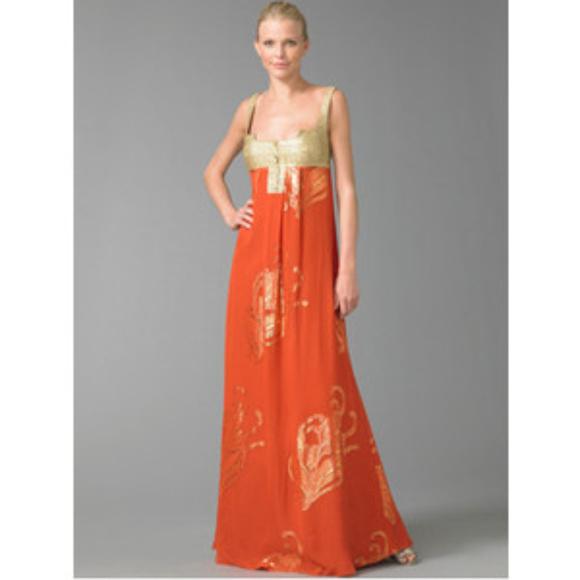 Nicole Miller Dresses | Silk Mayan Deity Gown Size 0 New | Poshmark