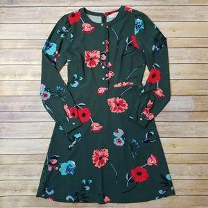 NWOT Loft floral breeze shirt dress