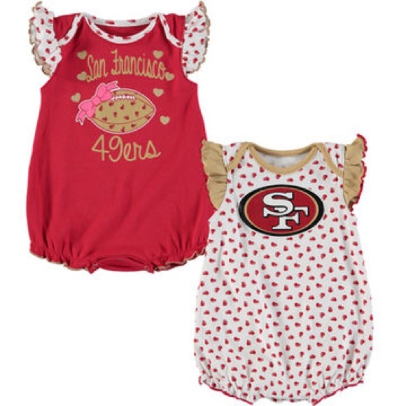 3e6fe536751 Official 49ers Gear One Pieces | Girls Infant San Francisco 49ers ...
