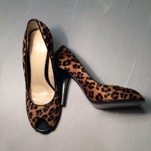 Calvin Klein Leopard Print Heel