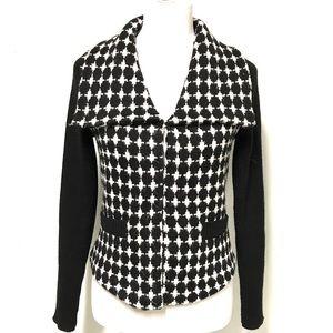 White house black market black and white cardigan