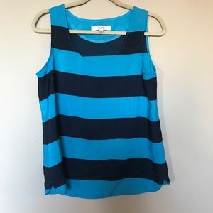 [Loft] Blue Striped Tank Size M