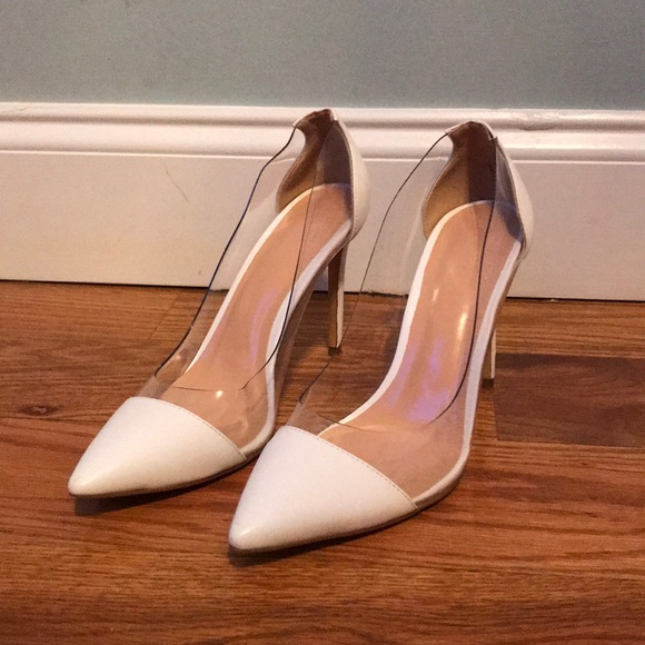 50cd4df6649 Eldof Shoes - Women s high heel white cap transparent stilettos