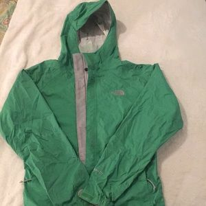 The North Face HyVent DT green rain jacket