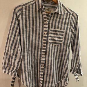 Abercrombie striped button down