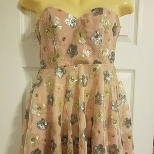 Nasty Gal Short Strapless Sequin Dress