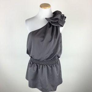 Charlotte Russe one shoulder blouse Sz Large
