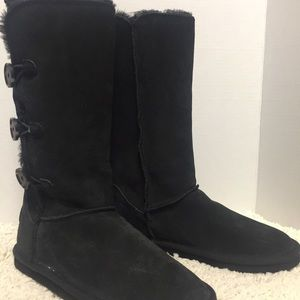 American Eagle fur boots black buttons new tags