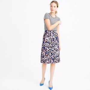 J.Crew floral A-line skirt in hibiscus print