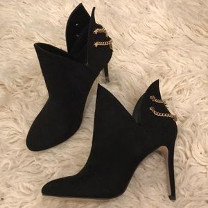 BCBG booties with cutouts