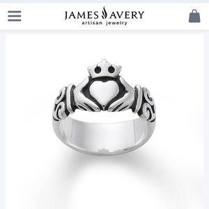James Avery Adorned Claddaugh Ring