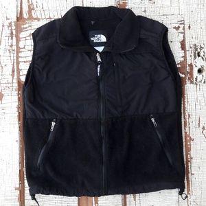 North Face fleece vest black women's large