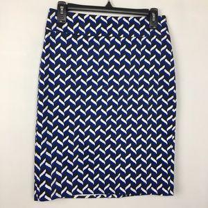 NWT Ann Taylor geometric pencil skirt