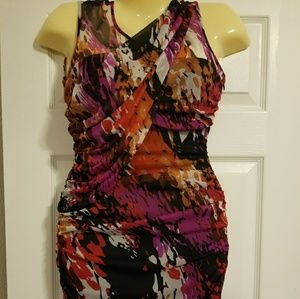 Bisou Bisou Multi Color Short Dress