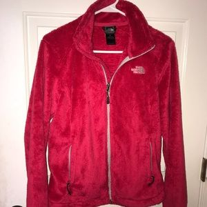 Women's Red North Face Osito Jacket