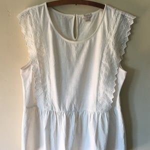 J Crew Peplum Top, Ivory, Size Medium