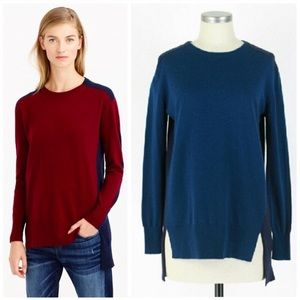J. Crew Colorblock Sweater-Tunic