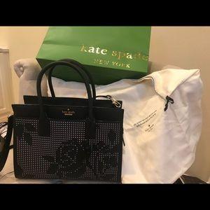 Kate Spade Perforated Satchel Bag w/strap