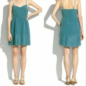 Madwell Bordershine Silk Teal Dress