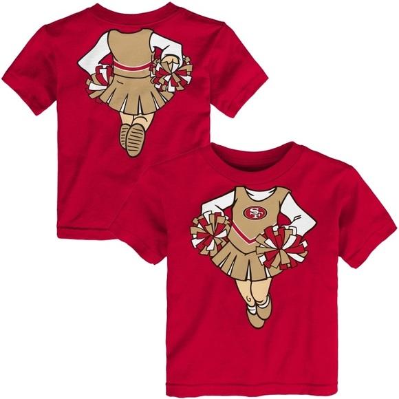 Official 49ers Merchandise Shirts & Tops | Girls Toddler San  nLnkXTj8