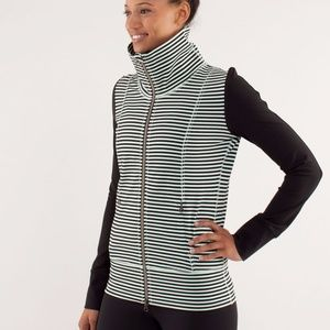 Lululemon Daily Yoga Jacket Classic Mint Stripe