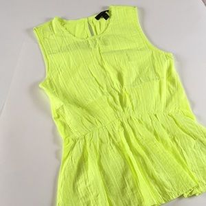 Citron J. Crew Key Hole Cotton Tank Extra Small