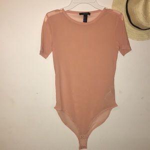 Peach body suit