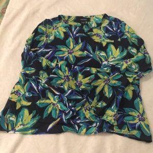 Karen Kane floral long-sleeve top