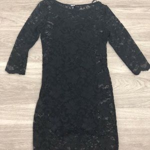 ASOS little black lacy dress size 4. Worn once