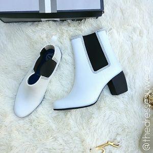 Jeffrey Campbell Clima White Rubber Rain Boots