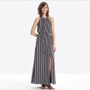 NWT Madewell silk stripe maxi
