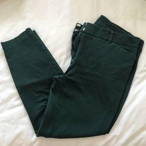 Emerald Green Skinny Ankle Dress Pants
