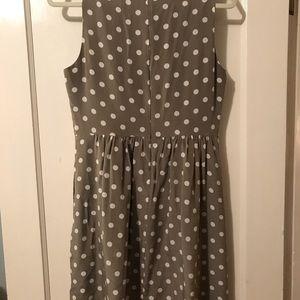 Madewell Beige Polka Dot Dress (with pockets)