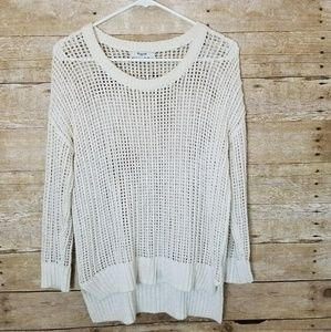Madewell Open Knit Sweater Cream XS