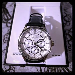 Black&White Fossil Watch