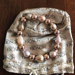 RARE Honora Cultured pearl bracelet new in bag