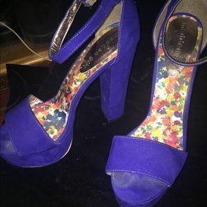 Madden Girl Royal Blue platform Heels