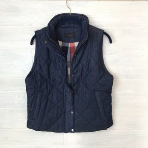 Jackets & Blazers - Plaid Lined Puffer Vest