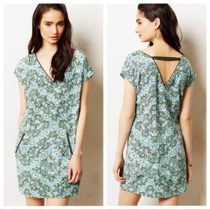 Anthropologie 0 Maeve Silk Serpentes Tunic Dress