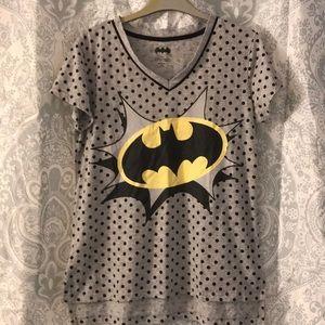 Batman DC Comic Women's M 8-10 T-Shirt Bat Symbol