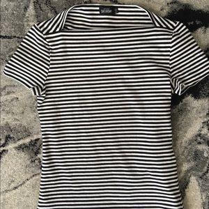 Kate spade black and white t shirt