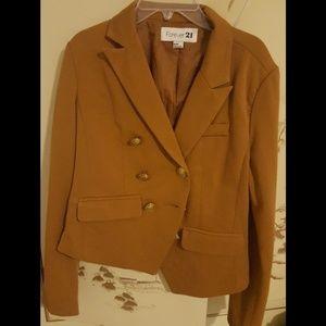 Caramel Brown Winter Blazer