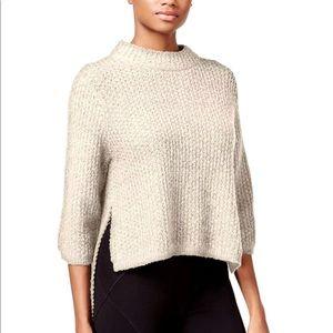 Rachel Roy Ivory Mock Neck Hi lo Sweater reg 79 S