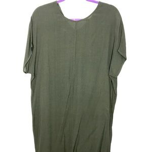 Madewell XS easy dress in olive green