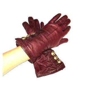 VINTAGE COACH WOMENS CASHMERE LINED LEATHER GLOVES
