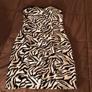 Speechless Zebra Pattern Dress Size Small