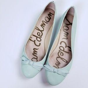 Sam Edelman Mint Green Leather Ballet Flats size10