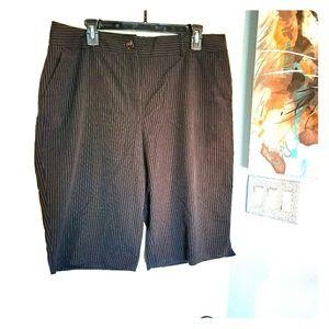 Pin stripe dress shorts