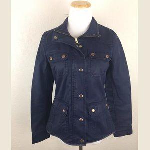 J. Crew waxed cotton utility downtown field jacket