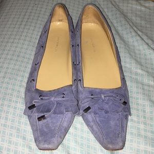 Size 10 Ann Taylor blue suede loafers